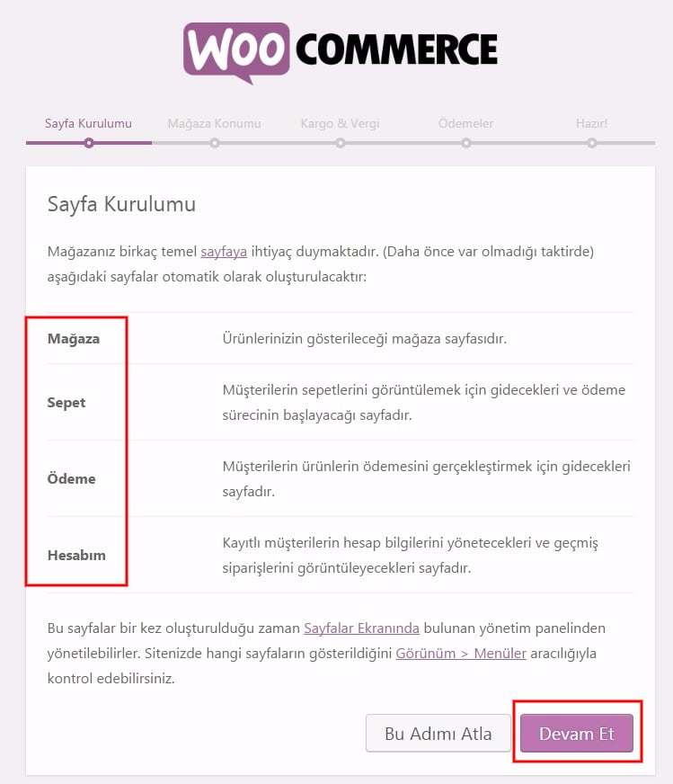 wordpress woocommerce kurulumu