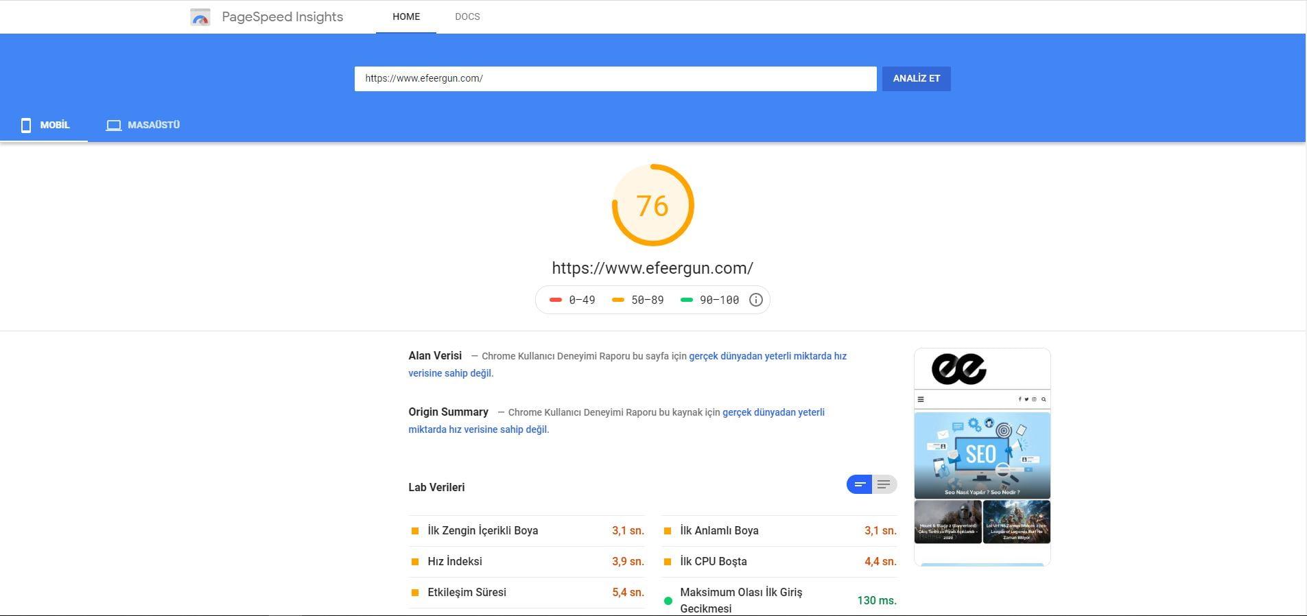 site hızlandırma işlemleri